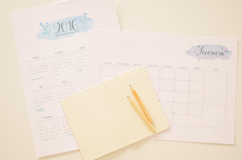 calendário 2016 peripécias